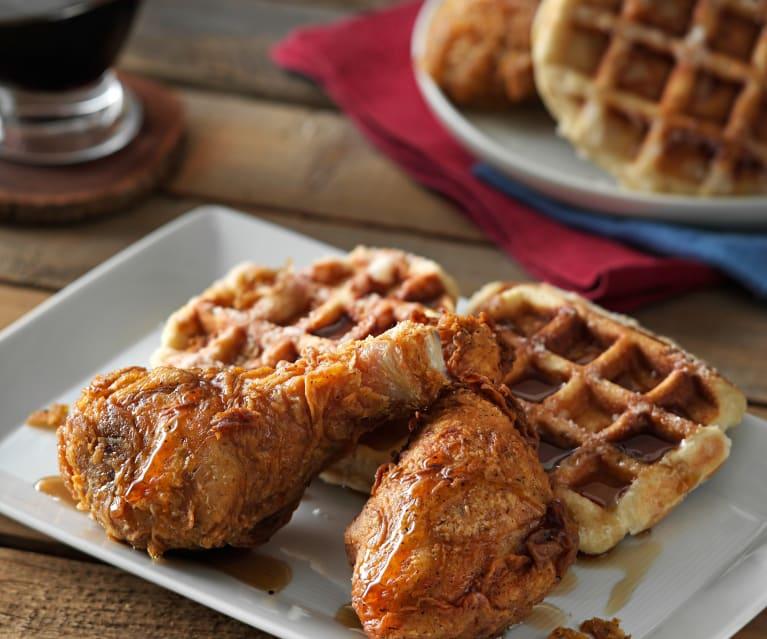 Waffles con Pollo Frito