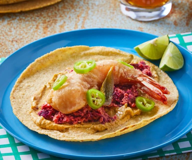 taco de camarón celebración dia del taco